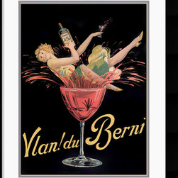Amanti Art - Vlan Du Berni Framed Print - Bring nostalgic charm to any room with this playful French vintage poster.