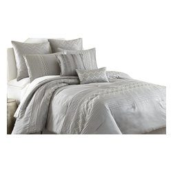 Reagan 8-piece Embroidered Comforter Set King Grey - Comforter sets aren't just for sleeping. They can also be regarded, like armoires and suits of armor, as a practical piece of art for the bedroom. This eight-piece set includes euro shams, decorative pillows, pillow shams, and a tailored bed skirt, not to mention an oversized, overfilled comforter wrapped in 100% polyester.