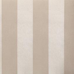 Wallpaper Worldwide - Century Classic - Metallic Stripe Wallpaper, Metallic, Light Grey, Silver - Material: Non-woven