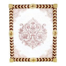 """Jay Strongwater - Jay Strongwater Alden Crystal Chevron Frame - Jay Strongwater Alden Crystal Chevron Frame SPF5779-232  -  Size: 11.5 Inches Tall x 9 Inches Wide  -  Picture Size: 8"""" x 10""""  -  Part Of The Jay Strongwater Luminous Collection  -  Finish: Golden  -  Hand Set With Swarovski Crystals  -  Hand Enameled Cast Pewter  -  Made In The U.S.A.  -  Jay Strongwater Item Number: SPF5779232"""