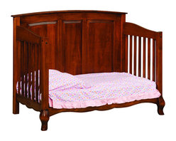 Chelsea Home Furniture - Chelsea Home Lincolnshire Crib with Toddler Rail in Amber - As children go through stages as they grow, so should their furniture. The Lincolnshire Convertible Crib Set in Brown Maple solid wood and Amber finish, is a 3-stage bed system that is constructed with quality and durability to transition any newborn into adulthood with elegance. The crib comes with paneled backboard detail and curved embellishment at the base and feet. This CPSC 16 CFR 1219 and 1220 compliant convertible piece is complete with guard rail and 3-level mattress support, and simple transition instructions to keep your child resting easy and comfortable. Chelsea Home Furniture proudly offers handcrafted American made heirloom quality furniture, custom made for you. What makes heirloom quality furniture? It's knowing how to turn a house into a home. It's clean lines, ingenuity and impeccable construction derived from solid woods, not veneers or printed finishes over composites or wood products _ the best nature has to offer. It's creating memories. It's ensuring the furniture you buy today will still be the same 100 years from now! Every piece of furniture in our collection is built by expert furniture artisans with a standard of superiority that is unmatched by mass-produced composite materials imported from Asia or produced domestically. This rare standard is evident through our use of the finest materials available, such as locally grown hardwoods of many varieties, and pine, which make our products durable and long lasting. Many pieces are signed by the craftsman that produces them, as these artisans are proud of the work they do! These American made pieces are built with mastery, using mortise-and-tenon joints that have been used by woodworkers for thousands of years. In addition, our craftsmen use tongue-in-groove construction, and screws instead of nails during assembly and dovetailing _both painstaking techniques that are hard to come by in today's marketplace. A