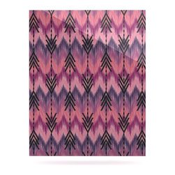 "Kess InHouse - Amanda Lane ""Indigo Orchid Chevron Arrows"" Pink Purple Metal Luxe Panel (16"" x 2 - Our luxe KESS InHouse art panels are the perfect addition to your super fab living room, dining room, bedroom or bathroom. Heck, we have customers that have them in their sunrooms. These items are the art equivalent to flat screens. They offer a bright splash of color in a sleek and elegant way. They are available in square and rectangle sizes. Comes with a shadow mount for an even sleeker finish. By infusing the dyes of the artwork directly onto specially coated metal panels, the artwork is extremely durable and will showcase the exceptional detail. Use them together to make large art installations or showcase them individually. Our KESS InHouse Art Panels will jump off your walls. We can't wait to see what our interior design savvy clients will come up with next."