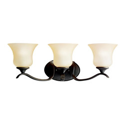 Kichler Lighting - Kichler Lighting - 5286OZ - Wedgeport - Three Light Bath Fixture - The Wedgeport(TM) Collection, in an Olde Bronze finish with Umber-Etched glass, brings a graceful elegance to your home.