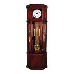 ACME Furniture - Cherry Storage Grandfather Clock - 01409 - Sofian Collection Grandfather Clock