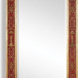 Jonathan Charles - New Jonathan Charles Mirror Gold Red Plain - Product Details
