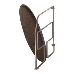 "KV Kitchen & Bath Storage - Specialty Storage/Tray Divider in Frosted Nickel - Specialty Storage/Tray Divider.   Metal Component Finish-Frosted Nickel.   Fits a 20"" (50. 8cm) deep opening"