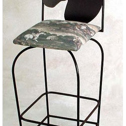 "Grace - Equestrian 24"" Counter Stool w/ Arms - Features: -Painted according to your choice of metal finish .-Ships fully assembled .-Dimensions: 16"" W x 19"" D x 44"" H .-Seat Height: 24"" .-Pictured is the 30"" bar stool .-Artistically crafted in wrought iron .-Available in 12 designer metal finishes .-Stools with 24"" seat height have 1 foot rung, stools with 30"" seat height have 2 foot rungs .-Suited for Residential use only. About Grace Collection: Grace Manufacturing is a metal and wrought iron furniture manufacturing company located in Rome, GA. The company has been in business for 25 years and continues to employ skilled artisans and craftsmen. In addition to their state of the art manufacturing equipment they still assemble and finish many products by hand. Many items in the Grace Collection are fully hand made or hand painted. With products ranging from barstools, counter stools, and dinettes to wrought iron beds, hanging potracks, bakers racks and more, Graces line meets all professional and home needs. By implementing unique styles and ideas to traditional products, Grace has created an exceptional balance between creativity and practicality. Their design styles range somewhere between whimsical, neo classic and traditional, thus creating a truly astonishing decor for any inside space."