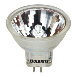 Bulbrite - Dimmable Halogen Light Bulbs - 10 Bulbs (20w) - Choose Wattage: 20wOne pack of 10 Bulbs. 12 V GU4 base bi-pin MR11 bulb type. 10 degree beam spread. Lense for UV stop protection. Ideal for retail displays, showcases or exhibits. Color temperature: 2700 K. Average hours: 2000. Color rendering index: 100. 20 W:. Lumens: 2500 CP. 35 W:. Lumens: 4400 CP. Bright white color. Maximum overall length: 1.25 in.