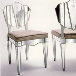 Lewiston Suite Mirrored Chair - Art | Harrison Collection