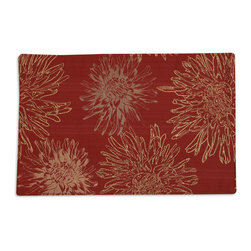 Chooty & Co - Chooty & Co Astonish Rust Reversible Placemat - Two-Sided TablescapeFor casual family dinners and formal evening affairs, the American-made Astonish Rust Reversible Placemat from Chooty & Co., is a perfect fit. One side feels festive and feminine with a rust hue and playful floral print, while the other side is elegant and refined in golden yellow. Use it to set a sophisticated tablescape in your contemporary home, or let it give your eclectic dining room a pop of pattern and color. After all, there are two sides to every placemat.Reversible with contrasting backingMade in the USA