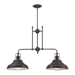Quoizel Lighting - Quoizel Lighting EVE240PN Eastvale Island Billiard Fixture With 2 Lights - For over seventy years, Quoizel lighting has been dedicated to the design and production of its diversified line of fine lighting products and home accessories.