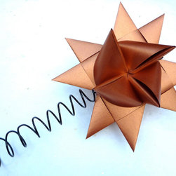 Holiday Tree Topper Copper Origami Star by The Starcraft - Isn't this the perfect tree topper for a Hermes-inspired tree?