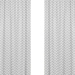 Sweet Jojo Designs - Zig Zag Turquoise and Gray Chevron Window Panel - Set of 2 by Sweet Jojo Designs - The Zig Zag Turquoise and Gray Chevron Window Panel - Set of 2 by Sweet Jojo Designs, along with the  bedding accessories.
