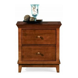 """American Drew 181-420C Drawer Night Stand - Cherry Sterling Pointe - Drawer Night Stand - Cherry - American Drew Sterling Pointe Collection 181-420CFeatures:2 DrawersThis Price Includes:Drawer Night Stand - CherryItem:Weight:Dimensions:Drawer Night Stand - Cherry66 lbs26"""" W X 17"""" D X 28"""" HManufacturer's Materials:Maple and Hardwood SolidsMaple & Poplar Veneers & Simulated Wood Components"""
