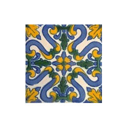 Handpainted Ceramic Grand Tile Collection - Item TG012