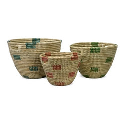 "IMAX CORPORATION - Dunn Sea Grass Catch-All Baskets - Set of 3 - The simple style of this set of three sea grass catch-all baskets coordinates effortlessly in a variety of room settings. Set of 3 in various sizes measuring around 39""L x 18.5""W x 15""H each. Shop home furnishings, decor, and accessories from Posh Urban Furnishings. Beautiful, stylish furniture and decor that will brighten your home instantly. Shop modern, traditional, vintage, and world designs."