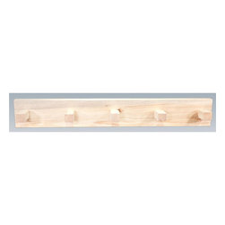 Montana Woodworks - 36 in. Wooden Coat Rack - Includes hardware. Hand crafted. Sawn square timbers and trim pieces for rustic timber frame design. Heirloom quality. Solid lodge pole pine. Made from U.S. solid grown wood. Lacquered finish. Made in U.S.A.. No assembly required. 36 in. W x 6 in. D x 8 in. H (5 lbs.). Warranty. Use and Care InstructionsProvides a sturdy and attractive solution to the everyday problem of coats lying around the house. Each piece signed by the artisan who makes it.