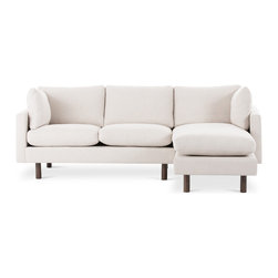 Bryght - Nova Beige Right Sectional - The Nova collection characterizes a Danish design that elegantly unifies modern minimalist lines with functionality. Upholstered to perfection in a classic basket weave fabric that brings forth elements of harmony and affinity to your space.