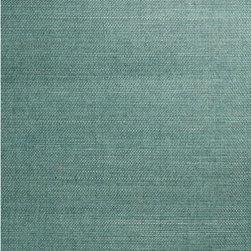 Kimiyo Aqua Grasscloth Wallpaper - A gorgeous turquoise colored grasscloth wallpaper with an eco-chic texture for walls.