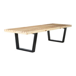 Modern Farm Bench - Benches are perfect ways to add seating to your place without the unnecessary bulk of too many furniture pieces. Constructed out of gorgeous ash wood, the Modern Farm Bench will instantly become part of your room's natural structure.