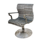 Recycled Salvage Chain Art Design - Modern Chain Art Chair Unique Furniture by Recycled Salvage Chain Art Design - Wonderful one of a kind chair made with recycled iron, salvaged chain