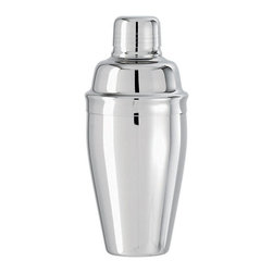 Paderno World Cuisine - 16-7/8-Ounce Cocktail Shaker - The Paderno World Cuisine 16 7/8 oz stainless steel cocktail shaker is comprised of three pieces: the container, a strainer, and a cap. The unit is used to mix beverages by shaking.