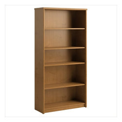 Bush - Bush Envoy 5 Shelf Wood Bookcase in Natural Cherry - Bush - Bookcases - PR76365 - The Envoy Collection bookcase is the perfect way to keep all your reference materials (and maybe a favorite novel or two) within easy reach. It seamlessly matches all your Envoy Collection pieces in Natural Cherry finish. Features:
