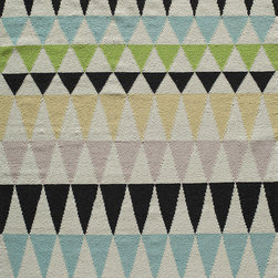 Laguna LG-10 Multi Rug - 5'x8' - Geometric patterns, vibrant colors and chic simplicity all collaborate to make the flat-weave Dhurry collection, Laguna. Made in India of 100% wool, Laguna utilizes a vibrant color palette that plays off geometric patterns often found in paving stones, basket weaves and nature.
