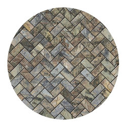Thirsty Stone - Stone Herringbone Coasters - Set of 4. Absorbent coasters. Real and natural Sandstone. Cork-backed to protect furniture. Made in the U.S.A.. No assembly required. 4 in. Dia. x 2 in. H (2 lbs.)