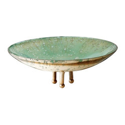 Lazy Susan - Gilded Sea Bowl-Large - Been deep sea diving recently? This elegant bowl looks like it was captured from the sea and brought directly to your table, droplets and all. Use as an objet d'art on a side table or to hold a collection of small seashells.