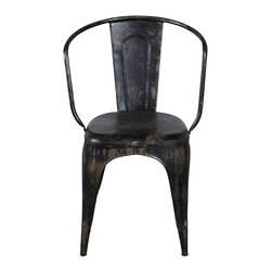 Miller Metal Chair - Black - *Finish: Painted
