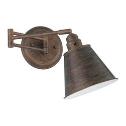 Lite Source Hancock Light Bronze Swing Arm Wall Light - A study? A bathroom? Bedroom? All of the above, sillies!