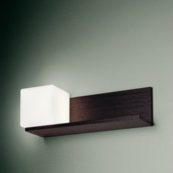 """Itre - Cubi Console Light - Classic cube shape in blown, satin white glass highlights this clean and simple family of designs. Wall / ceiling, suspension, wall, table and floor models are available. FEATURES: -Cubi collection. -Designed by Ufficio Stile I Tre. SPECIFICATIONS: -Accommodates 40 Watt G9 halogen bulb. -Overall dimensions: 4.75"""" H x 14.25"""" W x 14.25"""" D."""