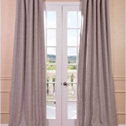 EFF - Parisian Taupe Bellino Blackout Curtain Panel - Improving on the usual blackout curtain,The Bellino Collection fabric has a soft,yard dyed texture and comes as pole pocket with back tabs and hookbelt. These tan curtains keep the light out and provides optimal thermal insulation.