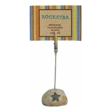 WL - 4.25 Inch Rockstar Inscription on Stone Base Photograph Clip - This gorgeous 4.25 Inch Rockstar Inscription on Stone Base Photograph Clip has the finest details and highest quality you will find anywhere! 4.25 Inch Rockstar Inscription on Stone Base Photograph Clip is truly remarkable.