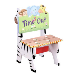 Teamson Design - Teamson Kids Sunny Safari Hand Painted Kids Time Out Chair - Teamson Design - Kids Chairs - W8270A. Time outs should only be so full of life! This chair is full of life for your little one.