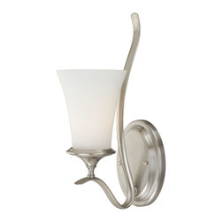 Vaxcel - Vaxcel W0030 Sonora 1-Light Wall Light Satin Nickel - Vaxcel W0030 Sonora 1-Light Wall Light Satin Nickel