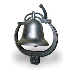New Buffalo Corp. - Sportsman Series Cast Iron Farm Bell - Call _em home to dinner with the Sportsman Series Cast Iron Farm Bell. The classic frontier style Farm Bell is made of durable cast iron coated in a durable rust resistant black finish. It is intended to hang outside in the wind and weather from the porch or a fence post, just like you see in the westerns. The uniquely shaped bracket can be mounted vertically or horizontally. The Farm Bell rings load and clear for the entire family to hear.