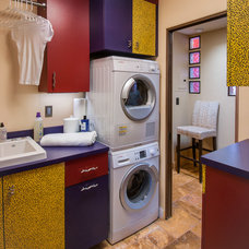 Eclectic Laundry Room by Harrell Remodeling