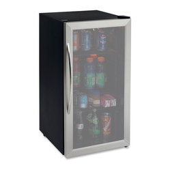 3.1Cubic-Foot Beverage Cooler Stainless Steel