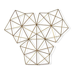 Three Kings Brass Geometric Wall Adornment - Three kings is my 12 pointed himmeli wall hanging. It is a modern take on traditional Finnish himmeli mobiles. This wonderfully delicate piece is a minimalist statement piece that is sure to turn heads. Its is made of brass. Hang together, or individually - in a baby room, with or without an air plant.