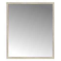 """Posters 2 Prints, LLC - 57"""" x 67"""" Libretto Antique Silver Custom Framed Mirror - 57"""" x 67"""" Custom Framed Mirror made by Posters 2 Prints. Standard glass with unrivaled selection of crafted mirror frames.  Protected with category II safety backing to keep glass fragments together should the mirror be accidentally broken.  Safe arrival guaranteed.  Made in the United States of America"""