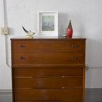 Midcentury Tallboy Dresser - If you're looking for the real deal and not reproductions of pieces, this site shares vintage furniture listings for the Chicago area. I want this dresser!
