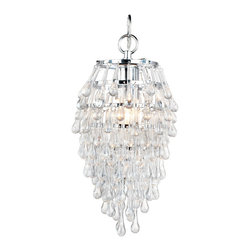 AF Lighting - Af Lighting 4950-1H Elements Crystal Teardrop Mini Chandelier - AF Lighting 4950-1H Elements Crystal Teardrop Mini Chandelier