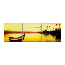 Peaceful Escape 3 Piece Photo, 8x24 - Artcorner offers affordable three-panel wall art for any type of interior wall space. We design each of our wall pieces by mounting beautiful hi-resolution images to high-quality, solid-wood panels. Our decorative wall-art sets are available in three different sizes and can be hung in commercial and office spaces as well as any area of the home. Panels are designed for durability and moisture resistance. Any piece can hang in bathrooms and kitchens without being damaged by heat and moisture.
