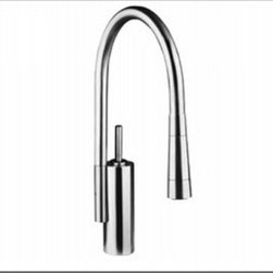 Aquabrass - Aquabrass - 8740 Kuezeen Pull-Down Spray Kitchen Faucet - ABFK08740BSS - Brushed Stainless Finish