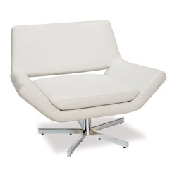 """Avenue Six - Yield 40"""" Wide Chair in White Faux Leather - Avenue Six Yield 40"""" Wide Chair in White Faux Leather"""