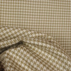 Roth - Houndstooth String Cotton Upholstery Fabric By The Yard - Tan or wheat colored hounds tooth upholstery fabric.  Beautiful 100% cotton woven fabric hounds tooth design. Stunning piece of high quality. Great for covering furniture, pillows or use in a window treatment.
