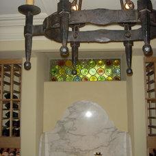 Traditional Wine Cellar by Lori Teacher & Associates