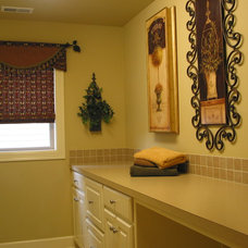 Traditional Laundry Room by Elnora Design Interiors